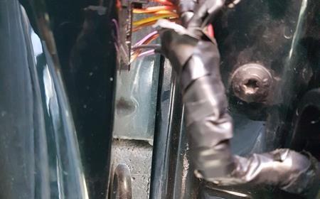 Temporary repair to broken Audi A3 door Harness